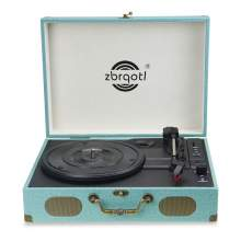 Vinyl Record Player with Speakers Bluetooth Suitcase Turntables