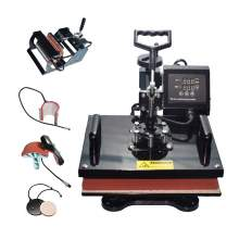 "6 in 1 Multi-function Heat Press Machine 12"" x 15"" T-Shirts Cap Mug"