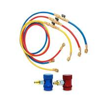 A/C Service Kit R1234yf QC With Ball Valve Charging Hose