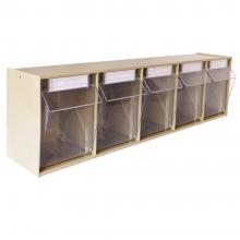 """Tip Out Storage Bins 5 Bin Unit 23-5/8""""W × 5-1/4""""D × 6-4/9""""H"""