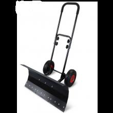 30'' Adjustable Wheeled Snow Pusher Shovel Sweeper Heavy