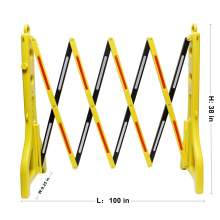 Folding Road Safety Barriers with Reflectors 100''LX9-1/4''WX38''H