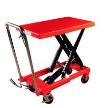 Manual Single-Scissor Lift Table 1100 lb, 35.5'' Max Lifting Height