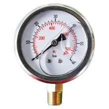 """2-1/2In 0 to 850PSI Liquid Filled Pressure Gauge 1/4""""NPT Bottom Mount"""
