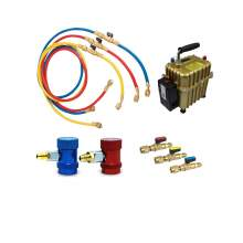 A/C Kit R1234yf QC 60'' Charging Hose with Ball Valve and Air Pump