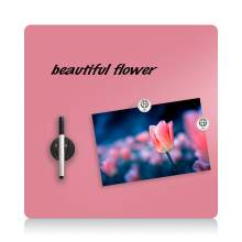 """Magnetic Glass Dry Erase Board - 16""""x16"""" - Pink"""