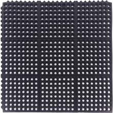 "Rubber Modular Drainage Mat Thick 5/8"" 3 ft x 3 ft Black"