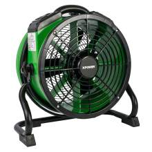 XPOWER X-34AR 1/4 HP Sealed Motor Axial Air Mover Fan w/ Power Outlets