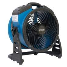 XPOWER P-21AR 1100 CFM Industrial Axial Air Mover Fan w/ Power Outlets