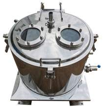 Top Discharge Jacketed Stainless Steel Centrifuge 600 Extraction 15KG