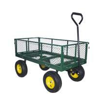"45""L x 23""W Steel Utility Cart Garden Wagon 1400lb Capacity"