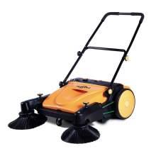 """37"""" Industrial manual push sweeper walk-behind floor sweeper"""