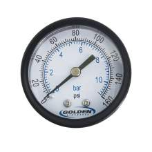 """2.0"""" Industrial Pressure Gage  0 to 160 psi"""
