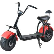 Fat Tire Electric Scooter For Adults With Two Wheels One Seat 60V 20Ah 2000W Red