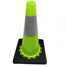 """18"""" PVC Green Traffic Safety Parking Cone Game Cones Easy Carrying"""