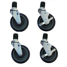 """5"""" Heavy Duty Swivel Stem Casters for Work Table&Equipment Stand,4/Set"""