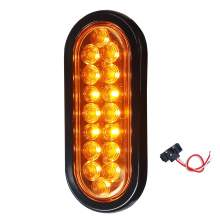 Led Trailer Tail Lights Turn Signal Indicator 6 Inch Oval Amber