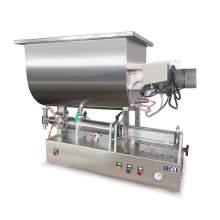 6.8-34 OZ Semi-Auto Paste Filling Machine with Mixing Hopper