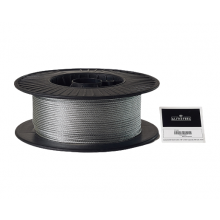 "Galvanized Cable 1/8"" x 500' Capacity 400 Lbs 7x19"