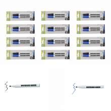 Whiteboard Marker Pen Bullet Tip 2 Colors (Black,Blue) Set of 24