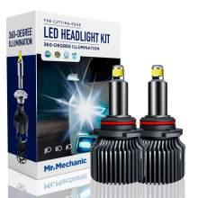 9005/HB3 LED headlight bulbs 70W 6,000K sky white 10,000LM brightness