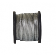 "Galvanized Cable 1/8"" x 250' Capacity 400 Lbs 7x19"