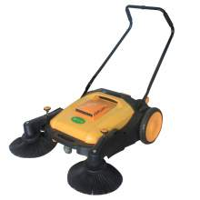 "36"" Walk-behind Floor Sweeper 11GAL Dustbin"