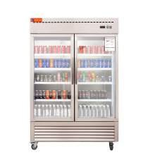Reach In Double Glass Door Refrigerator-43 Cubic Feet