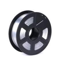 Silk Silver 3D Printer Filament 1.75mm 1kg / 2.2lbs