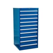 "Industrial Modular Drawer Cabinet 28 1/4"" x 28 1/2"" x 57"" 10 Drawers"