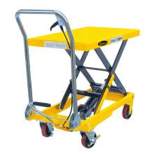 "Manual Single Scissor Lift Table 1100lbs 35.4"" Lifting Height"
