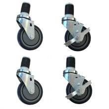 """4"""" Swivel Stem Casters for Work Table And Equipment Stand, 4PC/Set"""