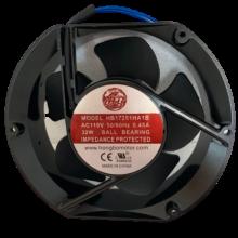 6.76''  Round  Ac Axial Fan, 110vac, 1ph, 178cfm, ball bearing