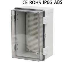 12 x 8 x 7In IP66 Transparent Waterproof Distribution Box ABS Plastic