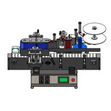 Custom Right To Left Automatic Small Desktop Round Bottle Labeling Machine