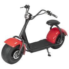 Electric Scooter With One Seat 60V 20AH Battery 2000W Red