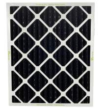 """Odor Removal Carbon Pleated Air Filter 14"""" x 20"""" x 1"""" Pkg Qty 6"""