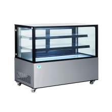 60 in. Square Glass Stainless Steel Refrigerated Bakery Display Case