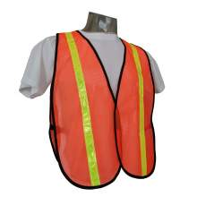 Universal Size Safety Vest  Non-ANSI Orange Mesh