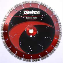 "Omega 12"" Concrete Saw Blade 15mm Tall Segments"