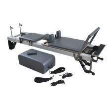 Commercial Fitness Studio Balanced  Pilates Reformer Silver, High Leg