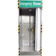 "Stainless Steel Emergency Shower Decontamination Booth 40 X 43 X 100"""