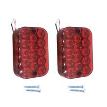 5 Inch Square Trailer Truck Led Stop Turn Tail Lights