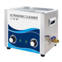 2.6 Gal Ultrasonic Cleaner 240W 40Khz Stainless Steel Bath Lab Washer