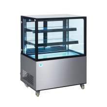 36 in. Square Glass Stainless Steel Refrigerated Bakery Display Case