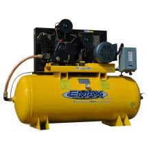 EMAX Industrial Plus 10 HP 3-Phase 2 Stage 120 gal. Stationary Electric Air Compressor