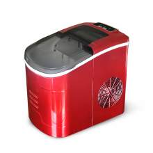 33lb Portable Household Ice Maker Bullet Round Ice Make Machine Red
