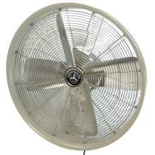 """24"""" Shrouded Outdoor Wall Mount Oscillating Fan - Motor Control/White"""