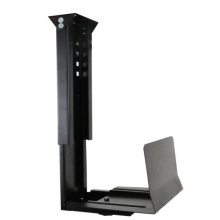 CPU Holder Under Desk Mount Adjustable Wall Black