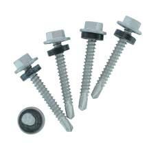 "#10 x 1-1/2"" Self-Drilling Screws, HEX big washer Head, Ruspert Coated,Carbon Steel, Taiwan ( 350 - pkg )| DG"